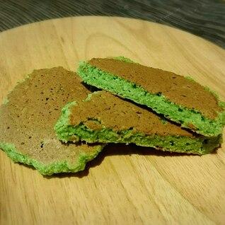 小松菜とおからのパンケーキ