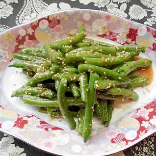 インゲン豆の甘味噌炒り煮