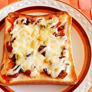辛子高菜のピザトースト