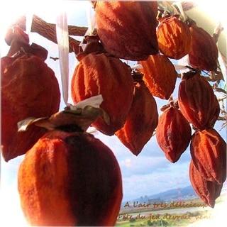 寒い冬のお茶請けに・・干し柿(吊るし柿)でまったり