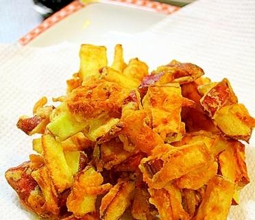 さつま芋と桜海老のかき揚げ