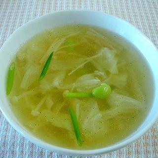 【お手伝いレシピ】キャベツと枝豆のスープ