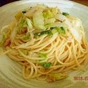 白菜とツナの冷製スパゲティ