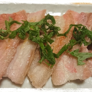 豚バラ焼きの梅酢漬け