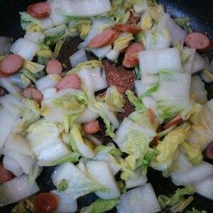 簡単一品!白菜の炒め物