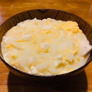 高タンパク低カロリー!鶏ささみと卵お豆腐の中華風粥