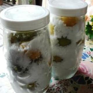冷凍梅で梅ジュース