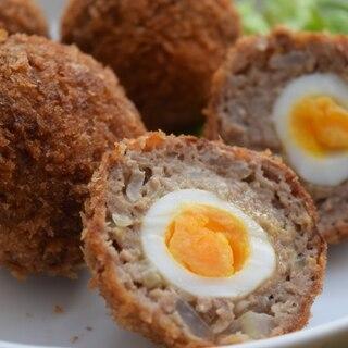 うずらの卵入りスコッチエッグ