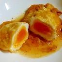 油揚げの卵詰め白菜キムチ煮