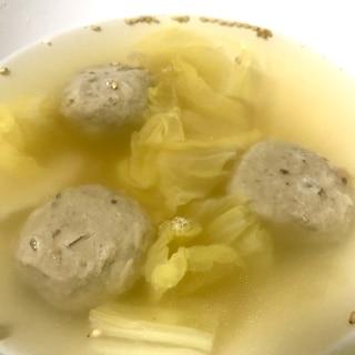 いわしのつみれと白菜の和風スープ