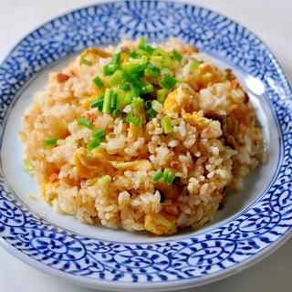 高菜と焼きたらこの炒飯