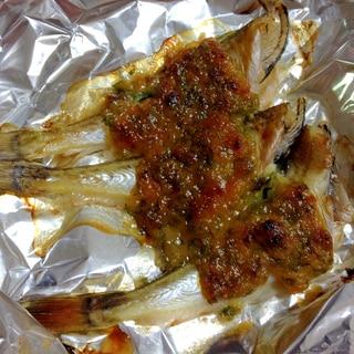 ハタハタの薬味味噌焼き