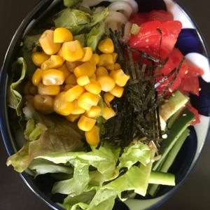 即席サラダうどん