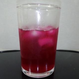 赤紫蘇ジュースでさっぱり