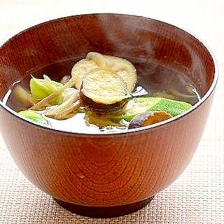 スパイス香る!夏野菜の味噌汁