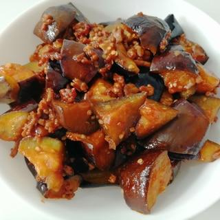 茄子とひき肉☆ピリ辛炒め