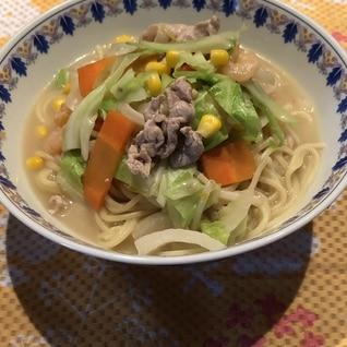 節約*野菜たっぷり長崎ちゃんぽん風