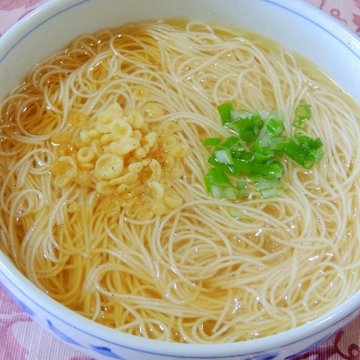 ラーメン?そうめん?乾麺の素麺で中華そば風そうめん