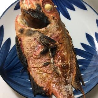 魚焼きグリルで✨金目鯛の塩焼き(^^)