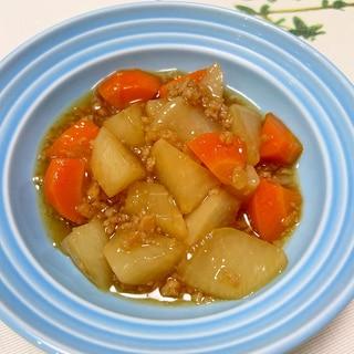 大根と大豆ミートの生姜煮