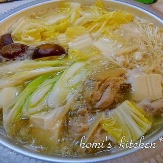 塩麹×白だし☆塩ちゃんこ鍋
