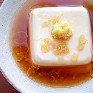 豆腐はレンジで温めて♪生姜あんかけ♪
