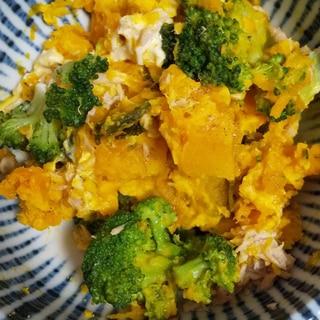 かぼちゃとブロッコリーのツナマヨサラダ