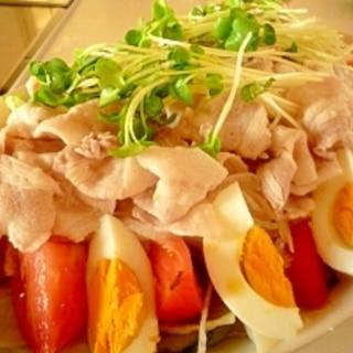 野菜たーっぷり冷しゃぶサラダ