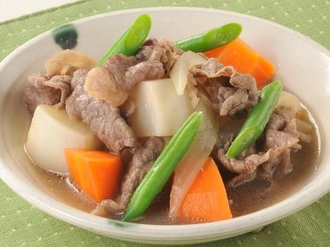 肉じゃが風♪ 牛肉とかぶの煮物