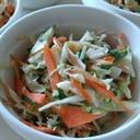 キャベツと人参と大葉とさつま揚げのマヨ醤油サラダ