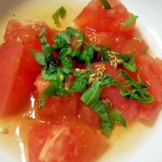 トマトと大葉のポン酢サラダ