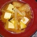 椎茸の軸入りお味噌汁