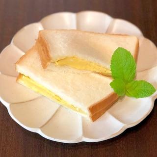 レンジで簡単!出汁のきいた厚焼き卵サンド