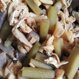 筍とふきとこんにゃくの煮物
