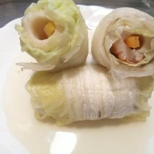 おでんに♪ にんじんちくわの白菜ロール