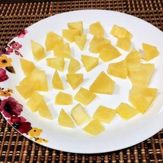 芯を使って☆ドライパイナップル