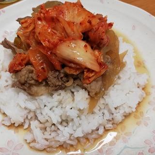キムチ牛丼