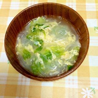 簡単☆春雨とレタスのスープ