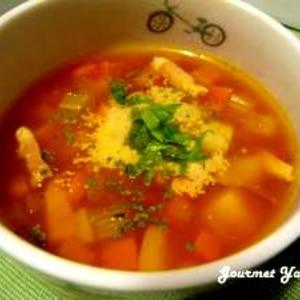 フレッシュトマトで作る☆簡単ミネストローネ