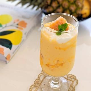 冷凍マンゴーでつくるマンゴーラッシー