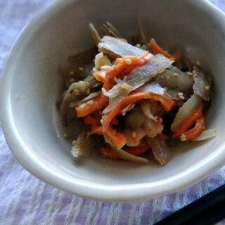 [電子レンジ]乾燥野菜でしっとりきんぴらごぼう