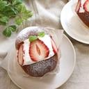 ブリオッシュ風いちごのクリームパン