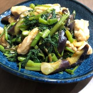 空芯菜と鶏胸肉のオイスター炒め