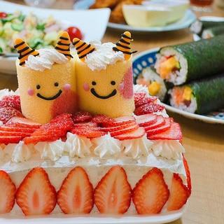 節分☆ 簡単 鬼ロール☆ケーキ