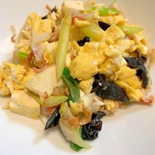 ふんわり卵と豆腐の長ネギ中華風味