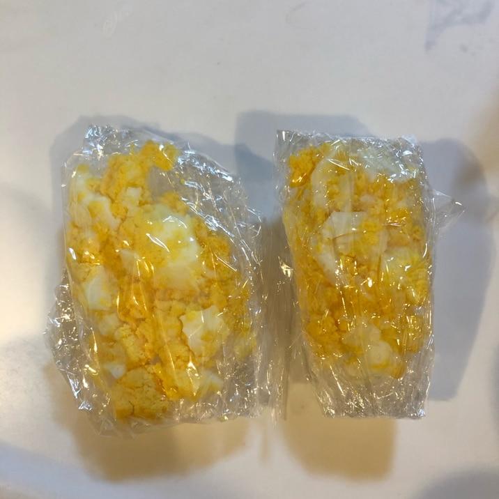 離乳食中期〜 ゆで卵の冷凍保存方法