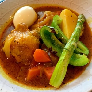 我が家の定番!野菜たっぷりスープカレー