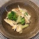 梅と鶏肉ブロッコリーの中華風サラダ