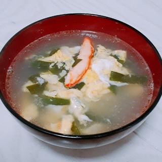 かにニラ玉スープ