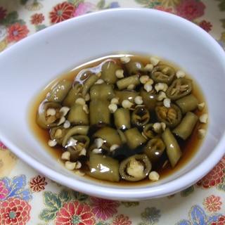 青唐辛子の酢醤油
